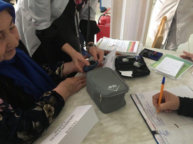 Сегодня в Сунженской ЦРБ прошла акция «Стоп диабет»