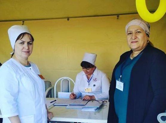 Сегодня сводный отряд врачей ФМБА начал работу в Сунженской поликлинике.